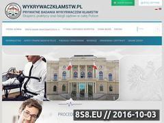 Miniaturka domeny www.wykrywaczklamstw.pl
