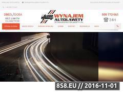 Miniaturka domeny www.wynajemautolawety.pl