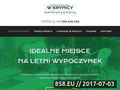 Miniaturka wypoczynek-krynica.pl (Apartament Krynica Zdrój)