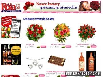 Zrzut strony Wystroje Gliwice, kwiaciarnia internetowa