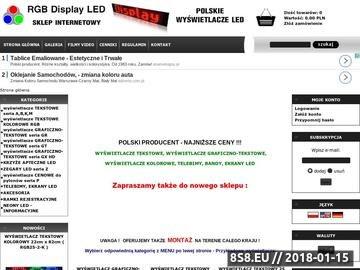 Zrzut strony Wyświetlacze LED - Sklep internetowy, panele led, tablice LED - RGB Display LED