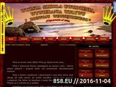 Miniaturka domeny www.wyzszaszkolauwodzenia.pl