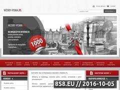Miniaturka domeny www.wzory-pisma.pl