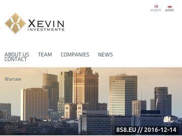 Zrzut strony Xevin Investments - fundusz venture capital