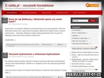 Zrzut strony E-szkła.pl - soczewki kontaktowe