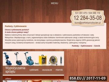 Zrzut strony Parkietykraków.pl - parkiety