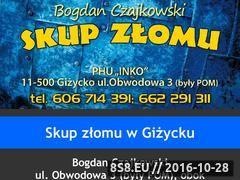 Miniaturka Strona skupu złomu w Giżycku (xn--skupzomugiycko-knc74g.pl)