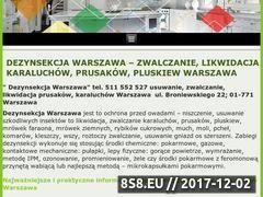 Miniaturka xn--zwalczanie-prusakw-karaluchw-pluskiew-mudk.pl (Dezynsekcja Warszawa - zwalczanie prusaków)