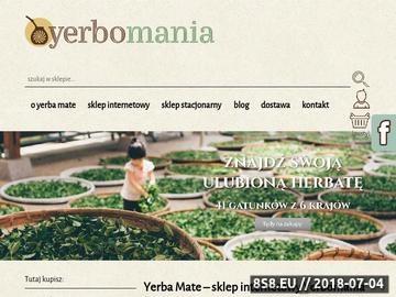 Zrzut strony Yerba Mate - sklep Yerbomania