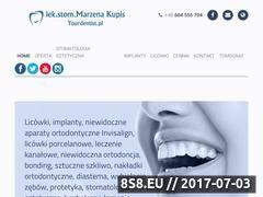 Miniaturka yourdentist.pl (Oferujemy: licówki, implanty oraz ortodoncję)
