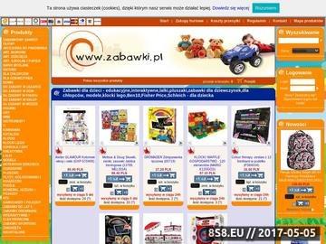 Zrzut strony Zabawki.pl - sklep internetowy