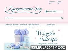 Miniaturka domeny www.zaczarowane-sny.pl