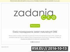 Miniaturka zadaniacke.pl (Zadania maturalne z matematyki)