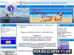 Miniaturka zaglowka.com.pl (Budowa, sprzedaż i zabudowa Jachtów Tes 678, Calipso 750 i Laguna)