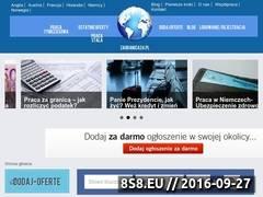 Miniaturka zagranica24.pl (Oferty pracy za granicą, pomoc oraz porady)