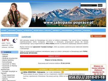 Zrzut strony Zakopane - noclegi, hotele, plan miasta i atrakcje