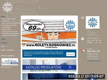 Zrzut strony Rolety materiałowe Akces