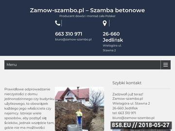 Zrzut strony Zamów szambo