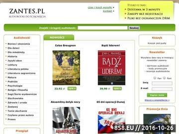Zrzut strony Zantes.pl - książki audio (audiobooki)