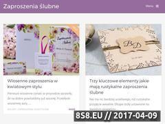 Miniaturka www.zaproszenia-slubne.org (Wyjątkowa galeria zdjęć z zaproszeniami ślubnymi)