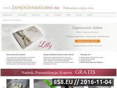 Miniaturka domeny www.zaproszeniaslubne.pro