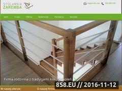 Miniaturka www.zaremba-meble.pl (Schody wewnętrzne drewniane oraz meble i drzwi)