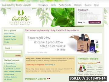 Zrzut strony Calivita - suplementy diety