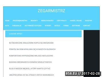 Zrzut strony Naprawa zegarków kwarcowych - D. Jurkowski