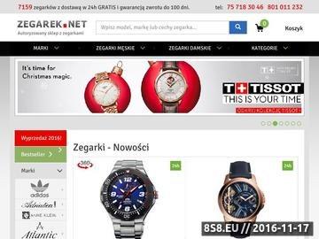 Zrzut strony Sklep ZEGAREK.NET Zegarki Timex Casio Adriatica Atlantic Pierre Ricaud