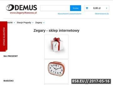 Zrzut strony Zegary.Rzeszow.pl - Duże Zegary Ścienne
