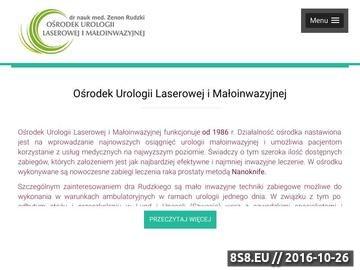Zrzut strony Urolog Częstochowa - niepłodność męska, prostata, laser zielony