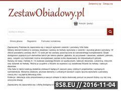 Miniaturka domeny www.zestawobiadowy.pl