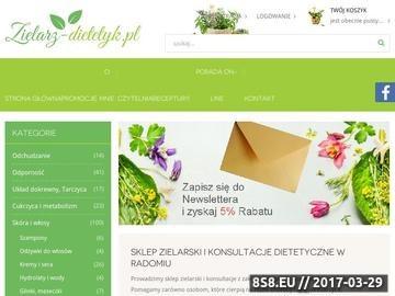 Zrzut strony Sklep zielarski ze zdrową żywnością oraz dietetyk w Radomiu