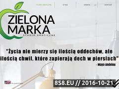 Miniaturka Strona studio graficzne (www.zielona-marka.com)