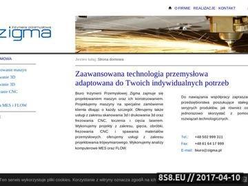 Zrzut strony Zigma - Druk 3d, skan 3d, projektowanie maszyn poznań, frezowanie CNC