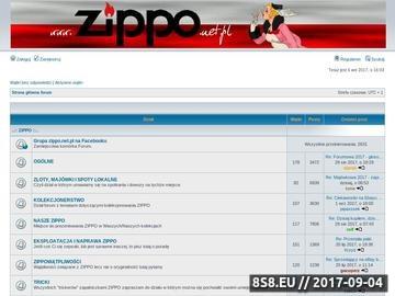 Zrzut strony ZIPPO forum