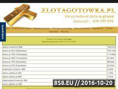 Miniaturka www.zlotagotowka.pl (<strong>skup</strong> złota on-line - Pierwszy w Polsce!)