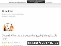 Miniaturka zlotekliki.pl (Blog o zarabianiu w internecie w tym na cupsellu)