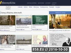 Miniaturka domeny www.zlotemysli.biz