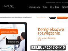 Miniaturka domeny www.znambhp.pl