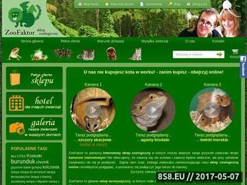Zrzut strony Internetowy sklep zoologiczny oraz hotel dla zwierząt