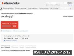 Miniaturka domeny www.zooshop.pl