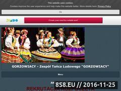 """Miniaturka ztlgorzowiacy.pl (Zespół Tańca Ludowego """"Gorzowiacy"""")"""